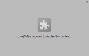 Wegen Sicherheitslücken wird die Anwendung von Java vom Browser blockiert