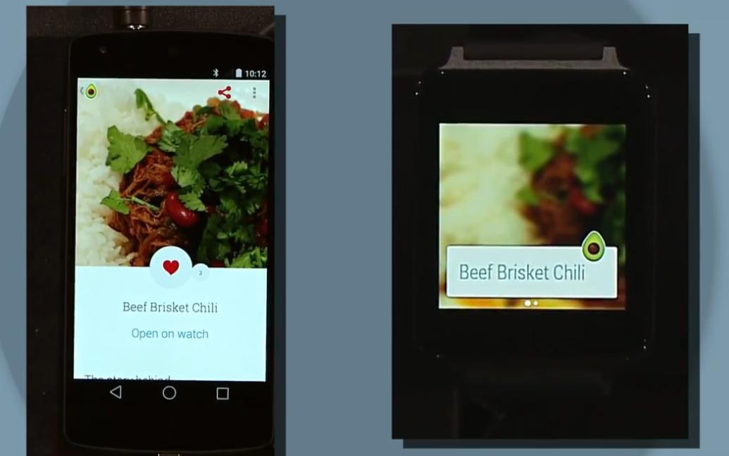 Rezepte werden auf der smartwatch angezeigt