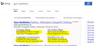 Bing-Sitelinks