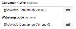 Conversion-Tag-Manager-AdWords-Makrowerte-übergeben