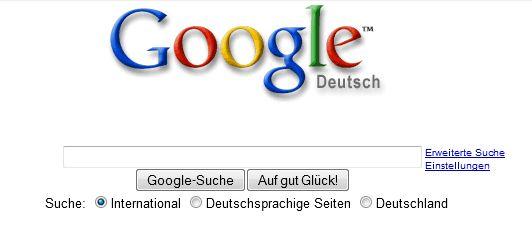 So wurden Suchergebnisse 2001 via Google gesucht