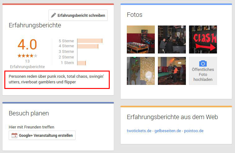Googleplus-Keywords