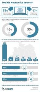 Die Grafik von der BITKOM zeigt die Nutzung der sozialen Netzwerke 2013