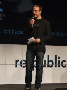 Marcus Beckedahl auf der re:publica
