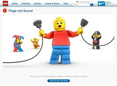 Error 404 Seite Beispiel LEGO