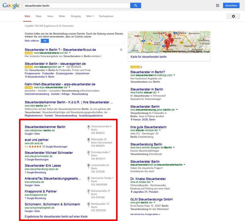 lokale-Google-SERPs