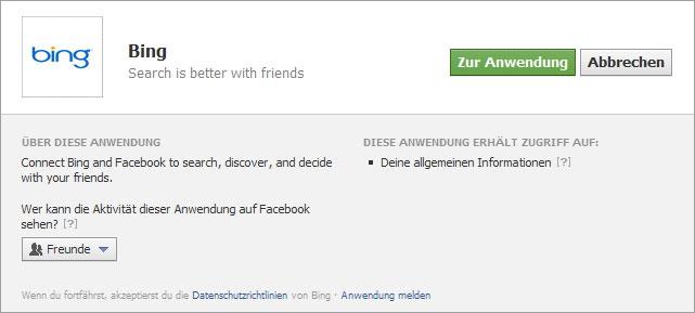 Facebook-Anwendung-Bing-Lin