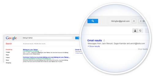 Darstellung: Google-Gmail-Einbindung