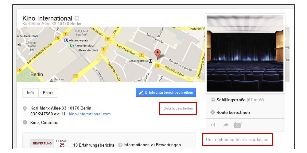 Screenshot: Google-Local-Details-bearbeiten