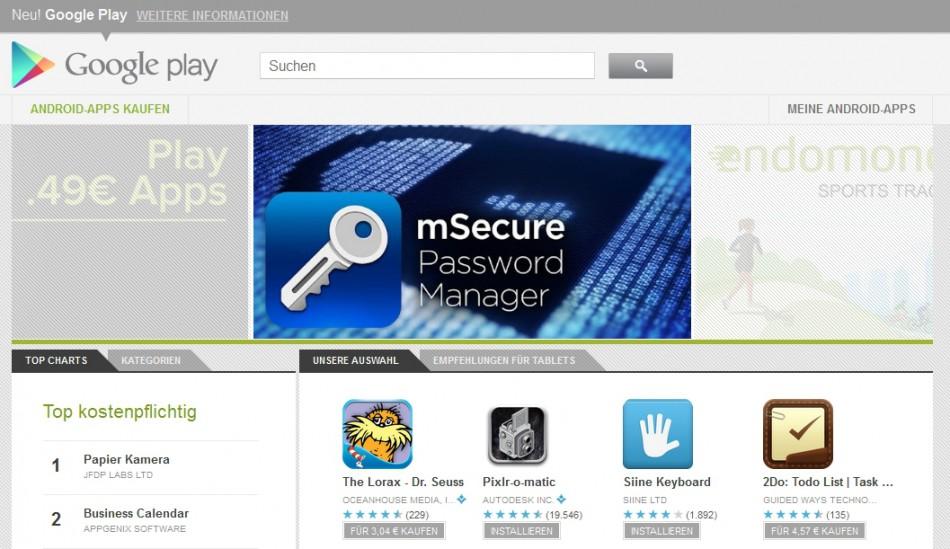 Screenshot: Google-Play-Store - Passwot Manager