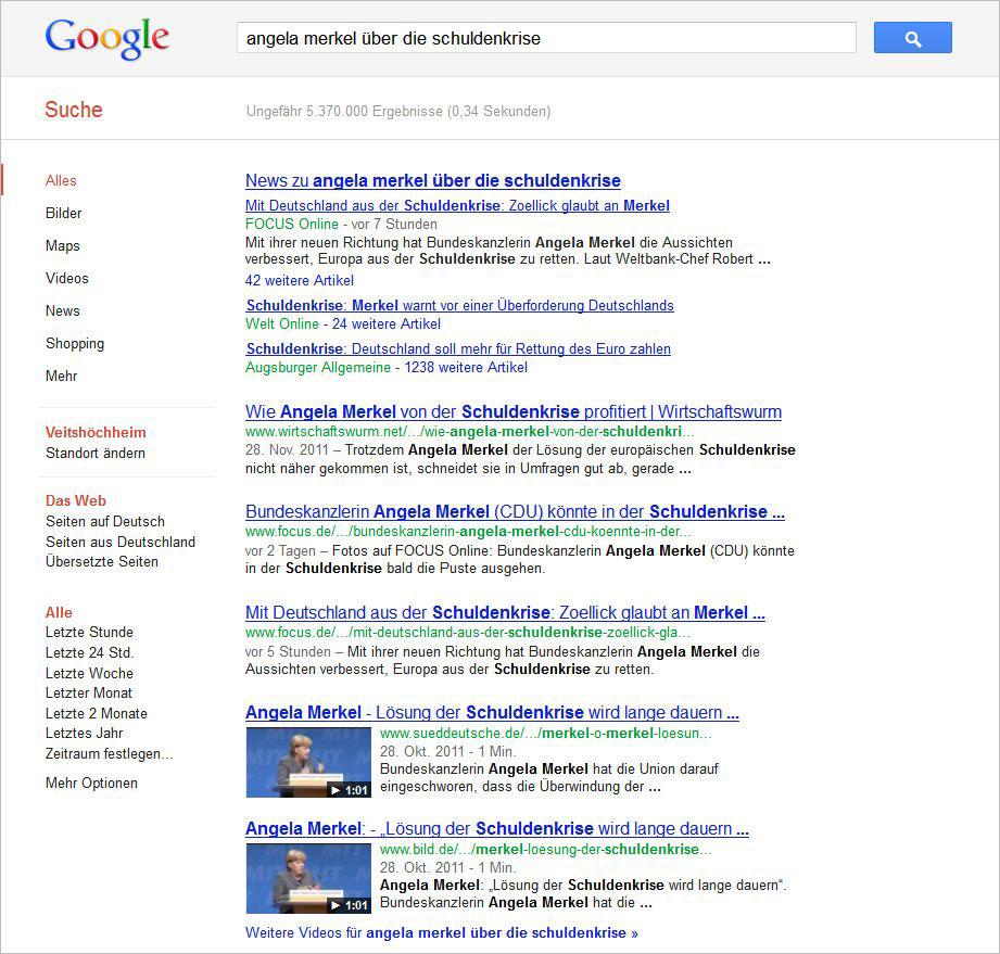 Video-Suchergebnisse