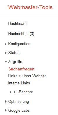 Webmastertools-Suchanfragen
