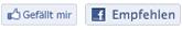 Facebooks Gefällt mir und Empfeheln Buttons