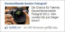 Facebookanzeige vom besten Fotograf Deutschlands