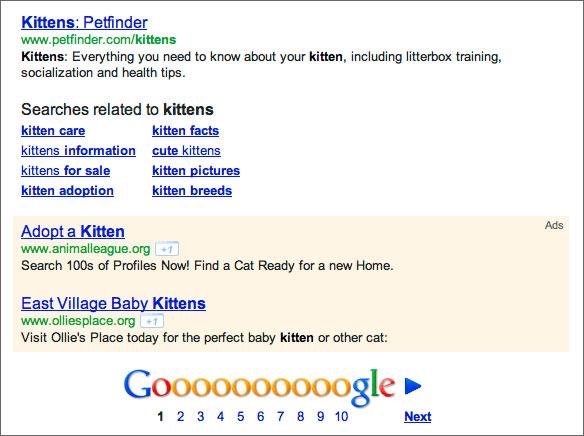 Anzeigepositionen von Ads in Google