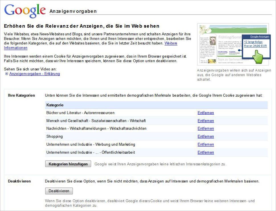 google_anzeigenvorgaben