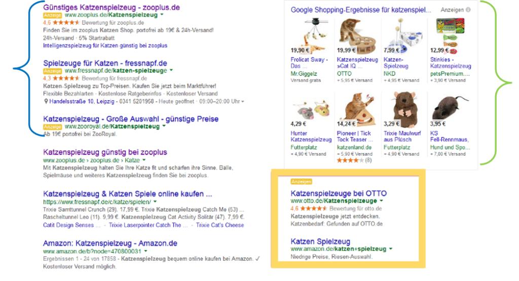 Neue Darstellung der Google Anzeigen in den Suchergebnissen