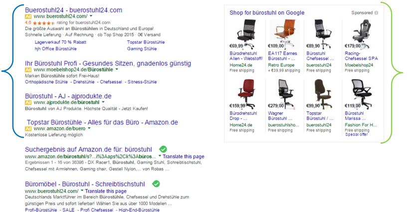 Neue_Darstellung der Suchergebnisse bei Google ohne Anzeigen auf der rechten Seite
