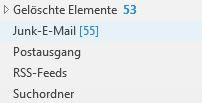 Verschiedenen E-Mail-Ordner für die Sortierung von E-Mails