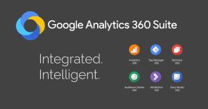 Logo und Auflistung der Funktionen vom neuen Google Analytics 360 Suite