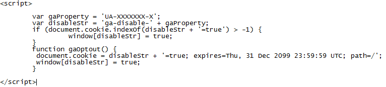 JavaScript, wie ein Opt-Out Cookie gesetzt wird.