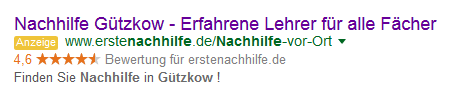 Beispiel für eine Google AdWords Anzeige