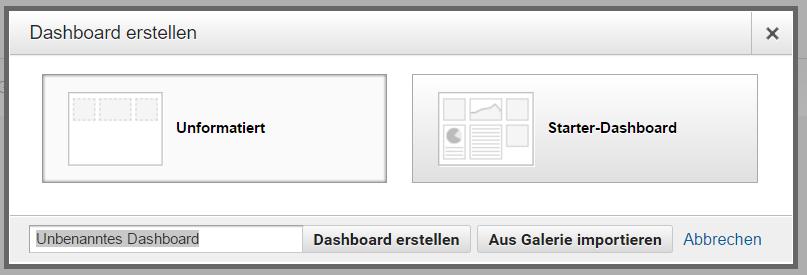 01-Dashboard erstellen