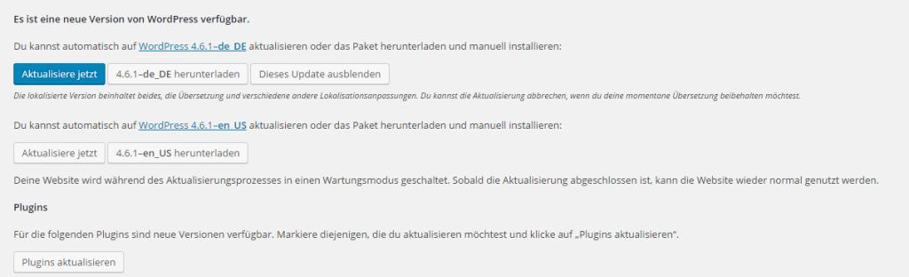 Wordpress_Aktualisierung