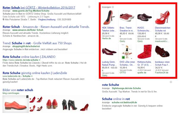 Abb. 1: Bing Shopping Anzeige