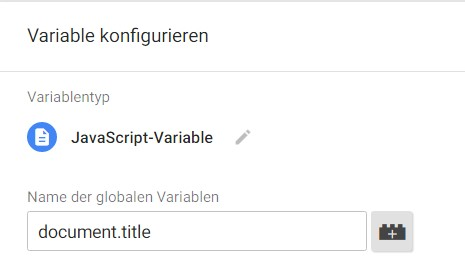 JavaScript-Variable für den Seitentitel