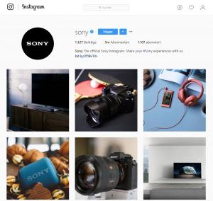 Bildcontent auf Instagram