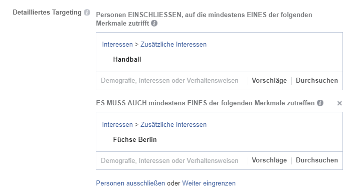 Zielgruppe Facebook Marketing