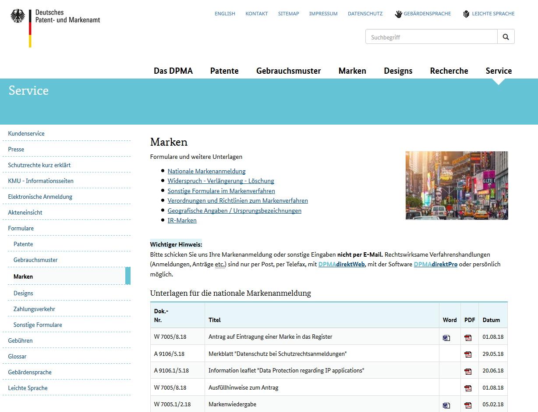 080b56b6de6907 Markenschutzformular  Infos zum Markenschutz