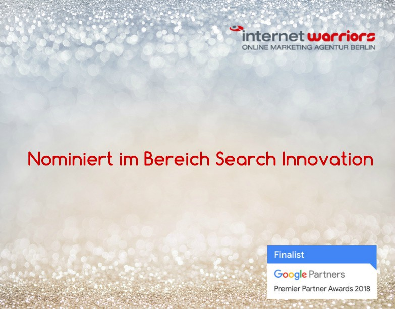 internetwarriors nominiert für Google Award