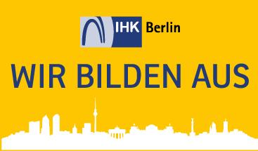 Logo der IHK - Unser Betrieb bildet aus!