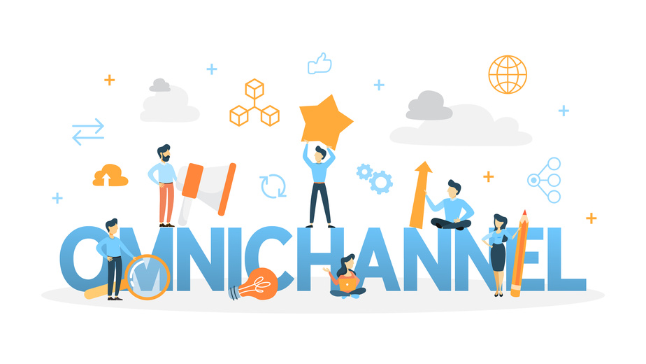 Illustration zum Thema omni-channel Händler