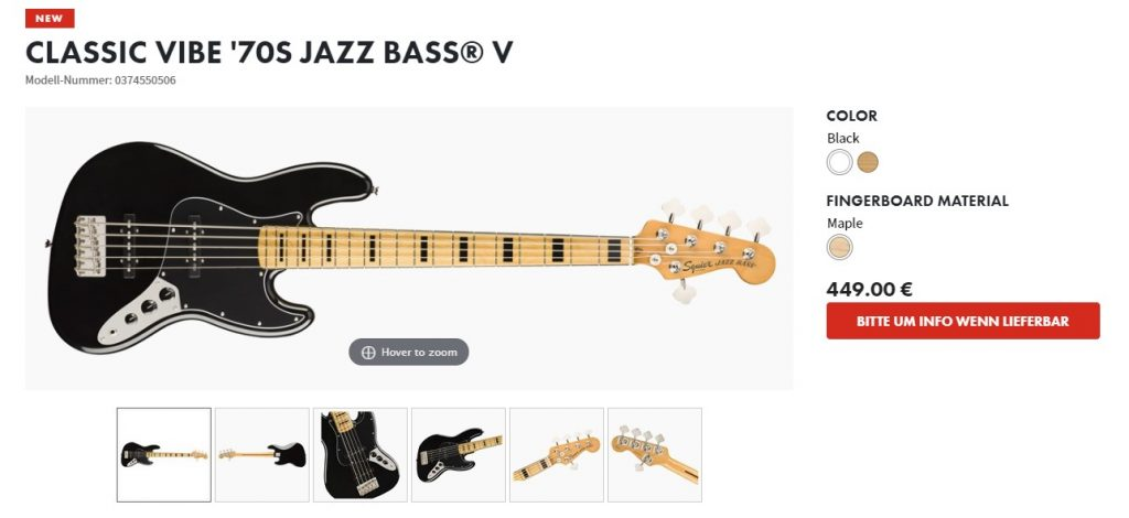fender gitarren produktinfo