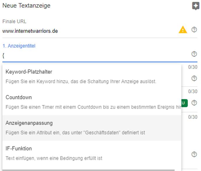 google ads anzeige erstellen