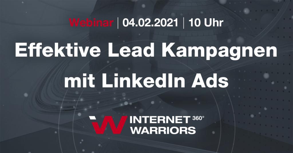 Webinar Effektive Leadkampagnen LinkedIn