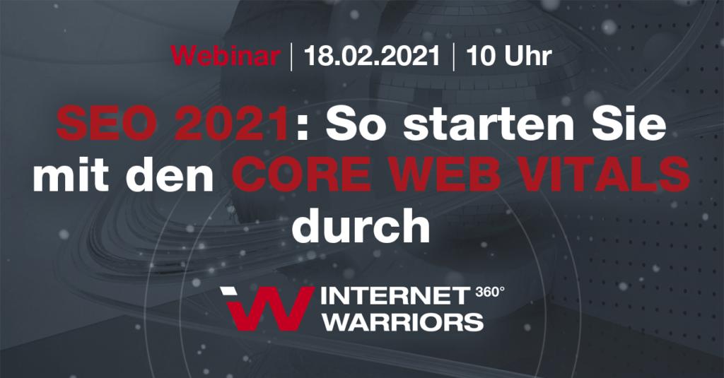 Webinartitel Core Web Vitals