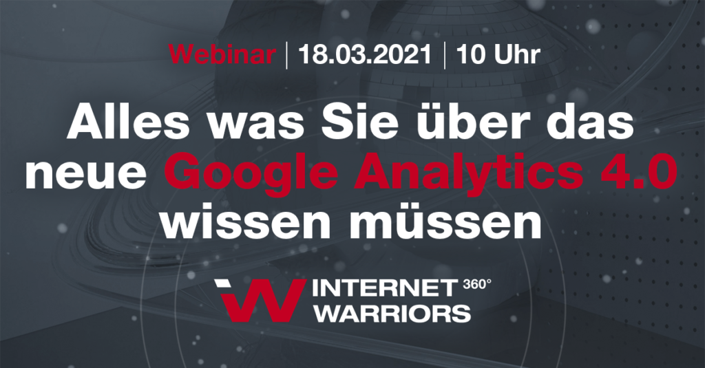 Banner Webinar Google Analytics 4.0